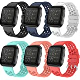 "EEweca Sport Bands Compatible with Fitbit Versa 2 Large Size 7.1""-8.7"" Multi-Colored EE-190922-20"