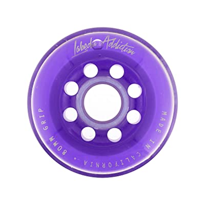 Labeda Roller Hockey Wheel Addiction Purple 76mm Grip (76A) : Sports & Outdoors