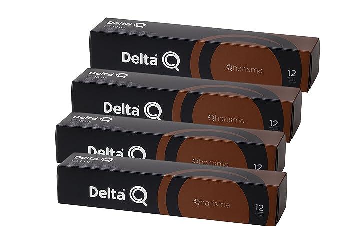 Pack Xl 40 Café QHARISMA - Cápsulas Delta Q - INTENSIDAD 12 - 4 X10 capsulas