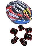 HORIZON 子供用 軽量 ヘルメット+キッズ プロテクター サイクリング 自転車 スケート