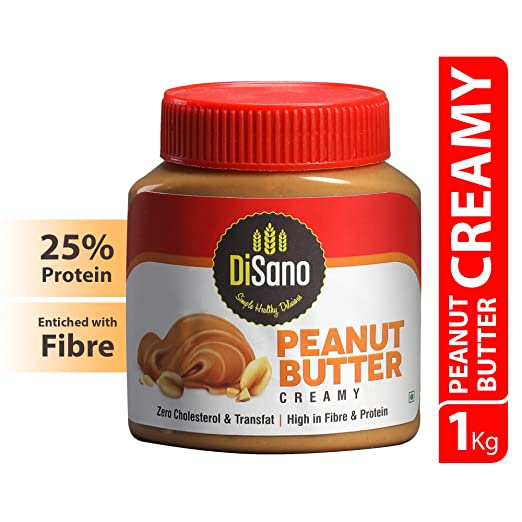 DiSano Peanut Butter, Creamy, 25% Protein with Vitamins & Minerals, 1 Kg