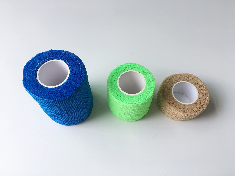 Lezed Benda adesiva Bende Sportive Elastic Bandage Bendaggio Impermeabile Benda Sport Equipaggiamento Protettivo Attivit/à Allaperto Alpinista Protezione per Ginocchia Caviglie e Gomiti Size A