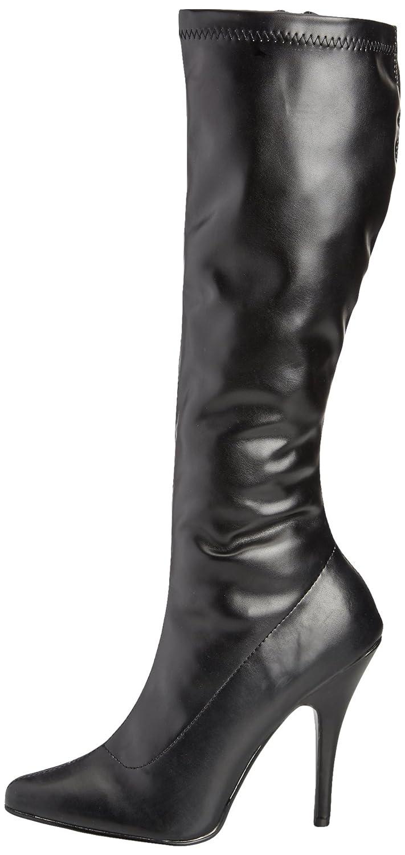 Pleaser SEDUCE-2000, Botas tacón para Mujer, Negro-Schwarz (Blk str PU), 36 EU: Amazon.es: Zapatos y complementos