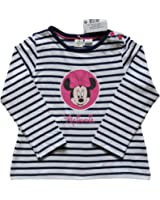 Disney Minnie Mouse T-Shirt for Girl's 2-24 Months Full Sleeves White Navy Blue