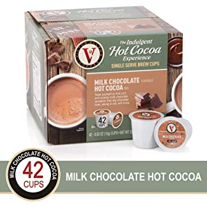 Victor Allen Coffee, Milk Chocolate Hot Cocoa Single Serve Cups, 42 Count