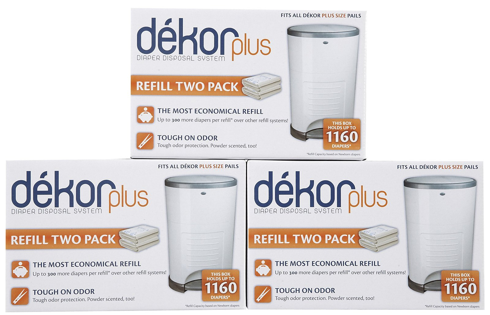 Diaper Dekor Plus Refill - 2 ct - 3 pk by Diaper Dekor