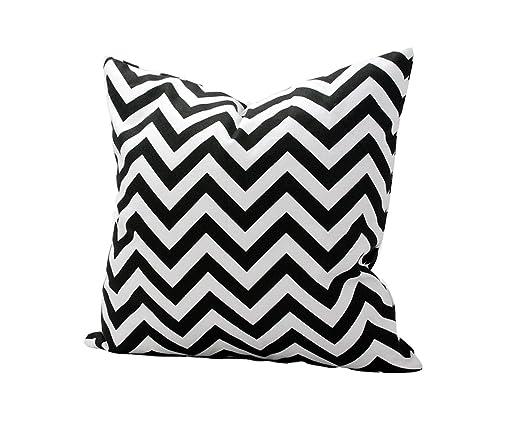 outflower funda de almohada diseño de ola blanco y negro zig ...