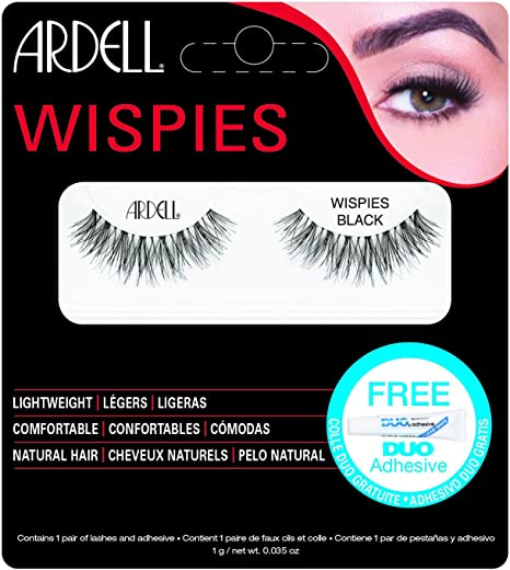 6c418a39951 Buy Ardell Natural Eyelashes - Wispies Black (65010) Online at Low Prices  in India - Amazon.in