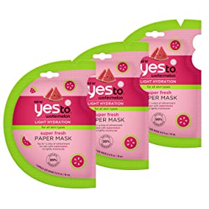 Yes To Super Fresh Paper Mask, Watermelon, 3 Count