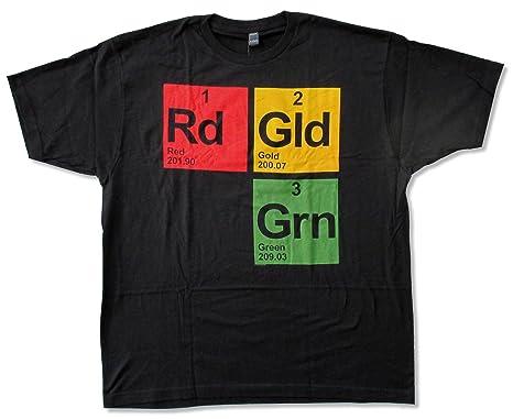 Amazon Com Adult Rdgldgrn Red Gold Green Logo Black T Shirt Clothing