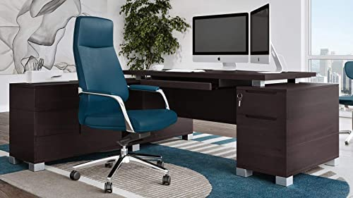 Best modern office desk: Dark Wood Finish Ford Executive Modern Desk