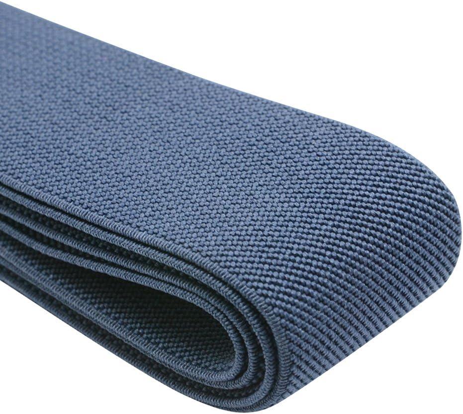 1 Wide Black Fused Lycra Strap Back to Back and Stitched Very Sturdy Slight Stretch 2 yards