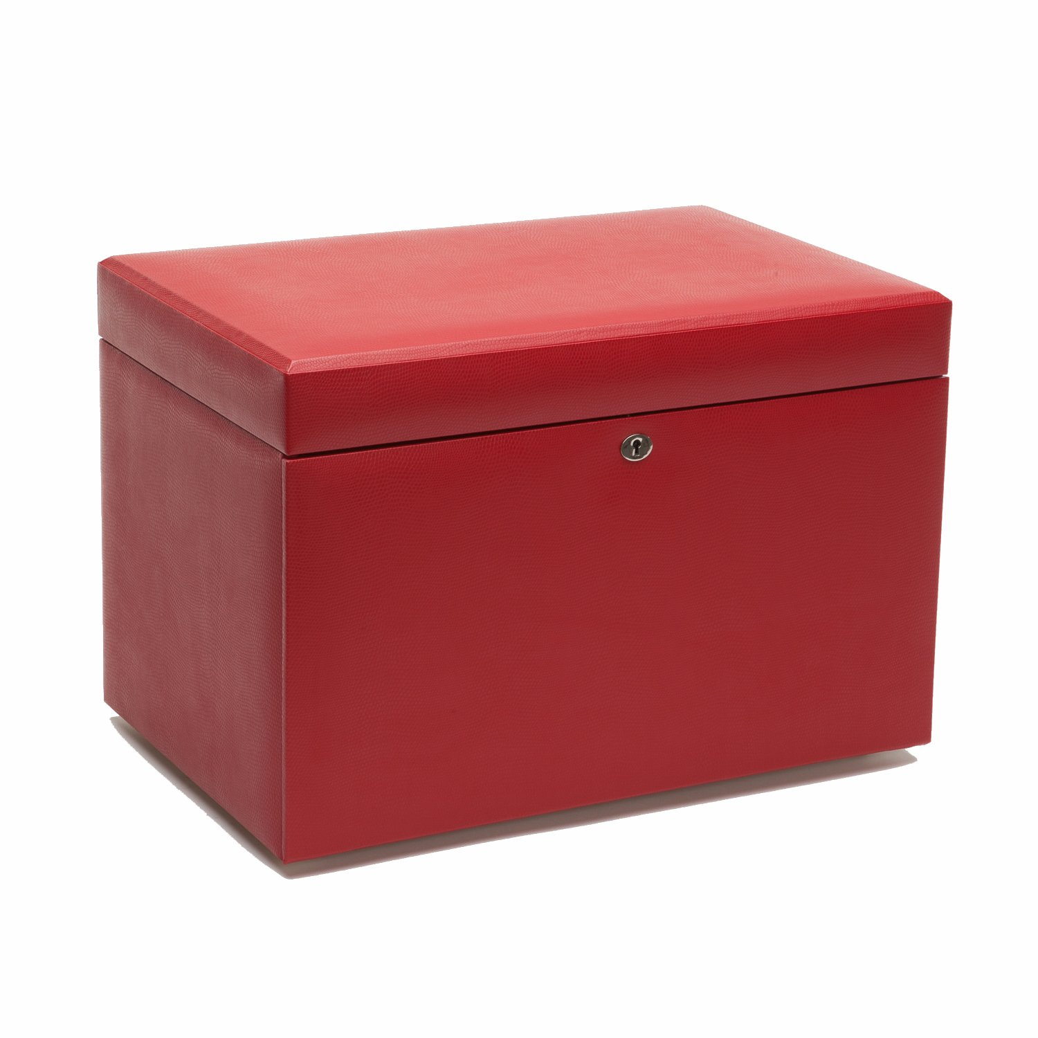 WOLF 103216RD Large Jewelry Box, Red