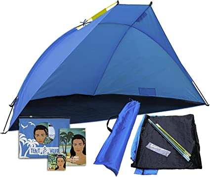 easy up sports cabana Beach Tent canopy Saturn: shades better than umbrella 4 people Shade shack outdoor UV protection sunshade for sporting events waterproof rain /& Sun shelter for kids /& adults