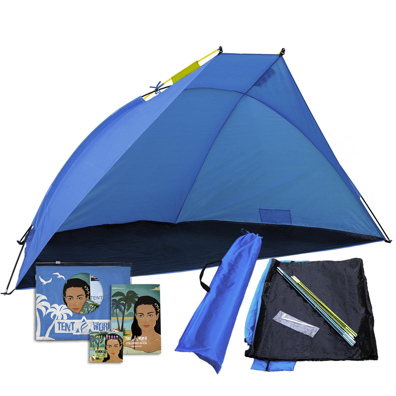 Portable Beach Tent Mars: Un doit avoir pour un Roadtrip. Abri de soleil extérieur pour s'asseoir dans le jardin avant, cour, parc, jardin. Pique-nique, événement sportif et Shades camping canopée mieux que n'importe quel parapluie TRML-TNT-MARS