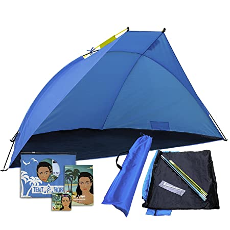 Beach Shade Shelter Mars, 2-3 Person Anti UV Tent Enjoy The Outdoors with Comfort Rain, Breeze Sun Canopy for Babies, Kids Adults. Easy Up Backyard, Park, Garden, Picnic, Sport Events Cabana