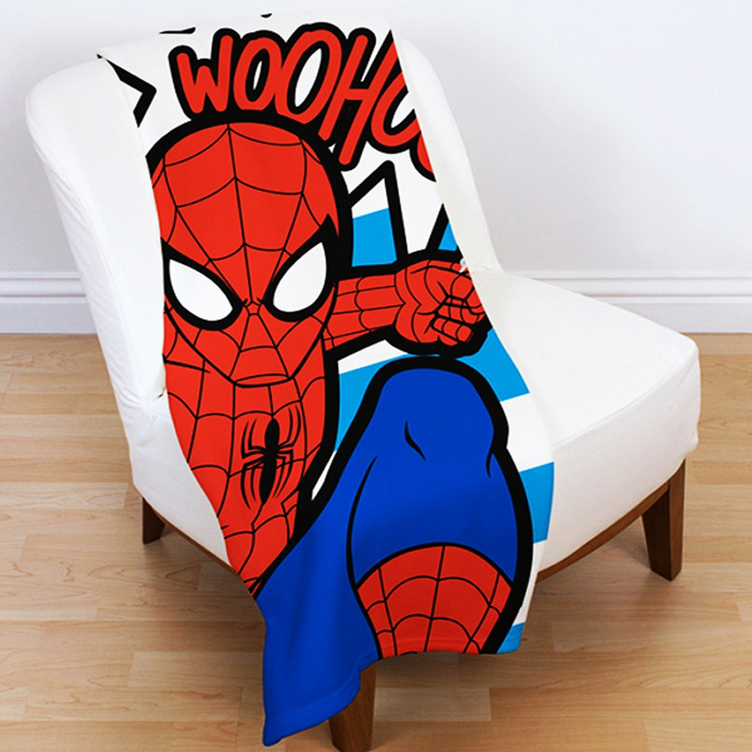 Spiderman Abstract Fleece Blanket Character World DUSABSFL001UK