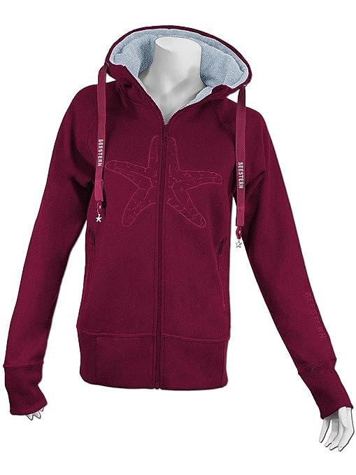 SEESTERN Damen Kapuzen Sweat Shirt Jacke Pullover Zip Hoody Sweater Gr.S-2XL  /FBA_1520.bx_gy: Amazon.de: Bekleidung