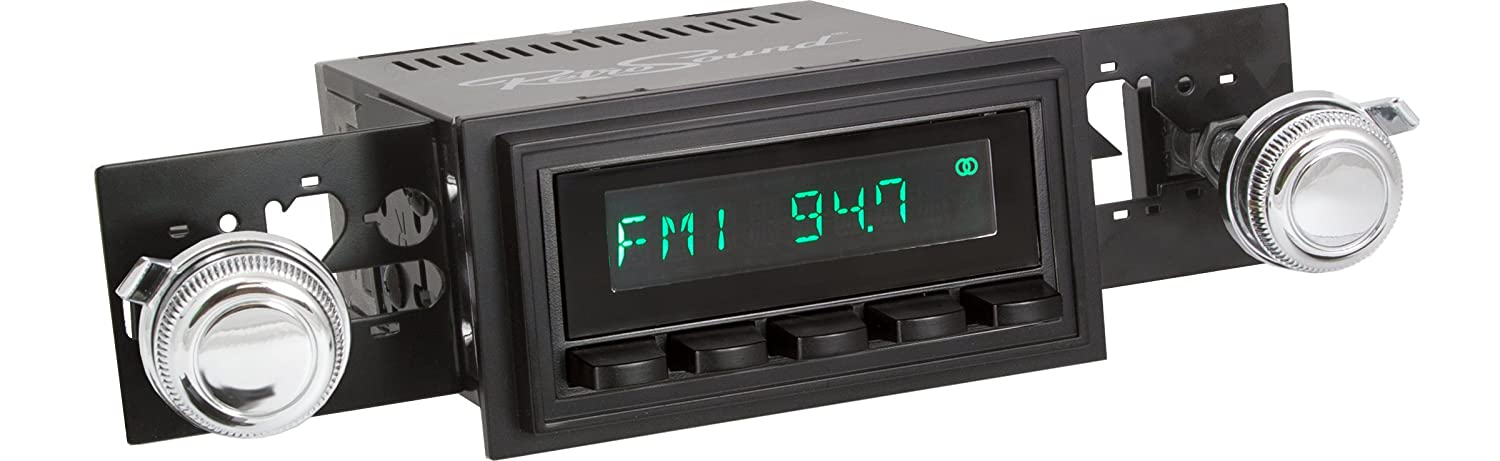 Black Face /& Buttons and Black Bezel RetroSound HB-218-03-73 Hermosa Direct-fit Radio for Classic Vehicles