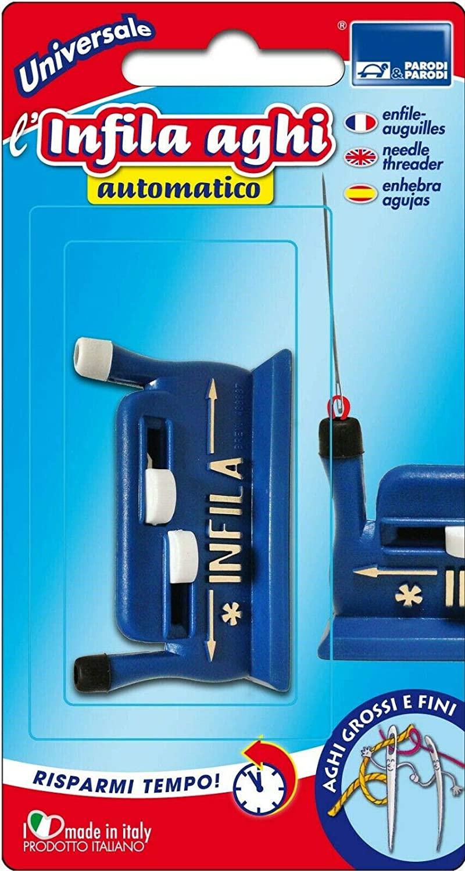 Parodi & Parodi - Enhebrador automático para Agujas Gruesas y Finas, Portátil y Ligero, Fabricado en Italia, 18 x 8 x 3 cm