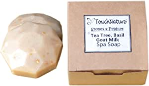 Touch Nature Goat Milk Soap with Tea Tree and Oatmeal Natural Handmade Soap in Brown Box - 2pc 50gm