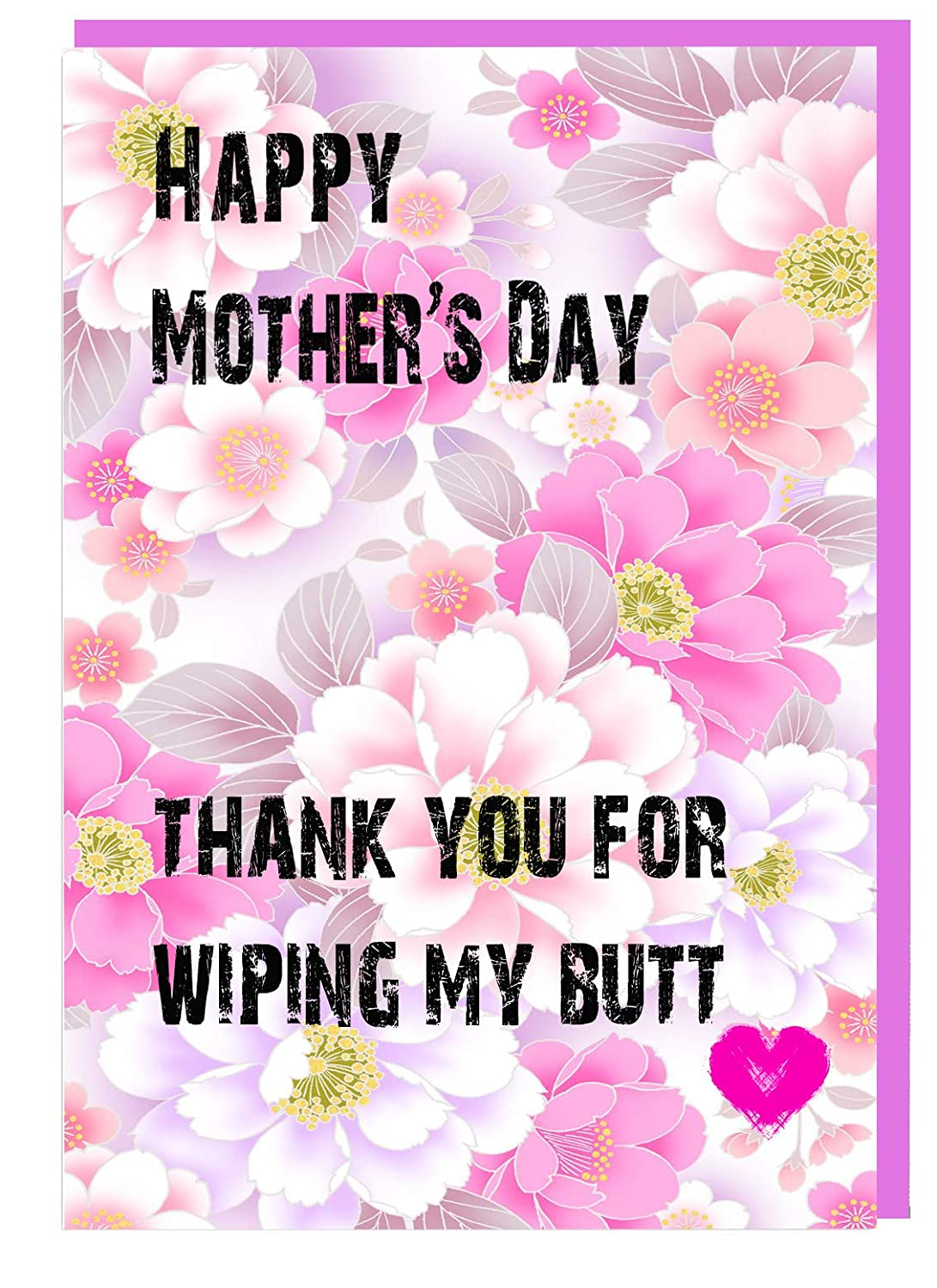 Peachy Funny Cheeky Joke Mothers Day Card For Mum Thank You For Wiping Funny Birthday Cards Online Fluifree Goldxyz