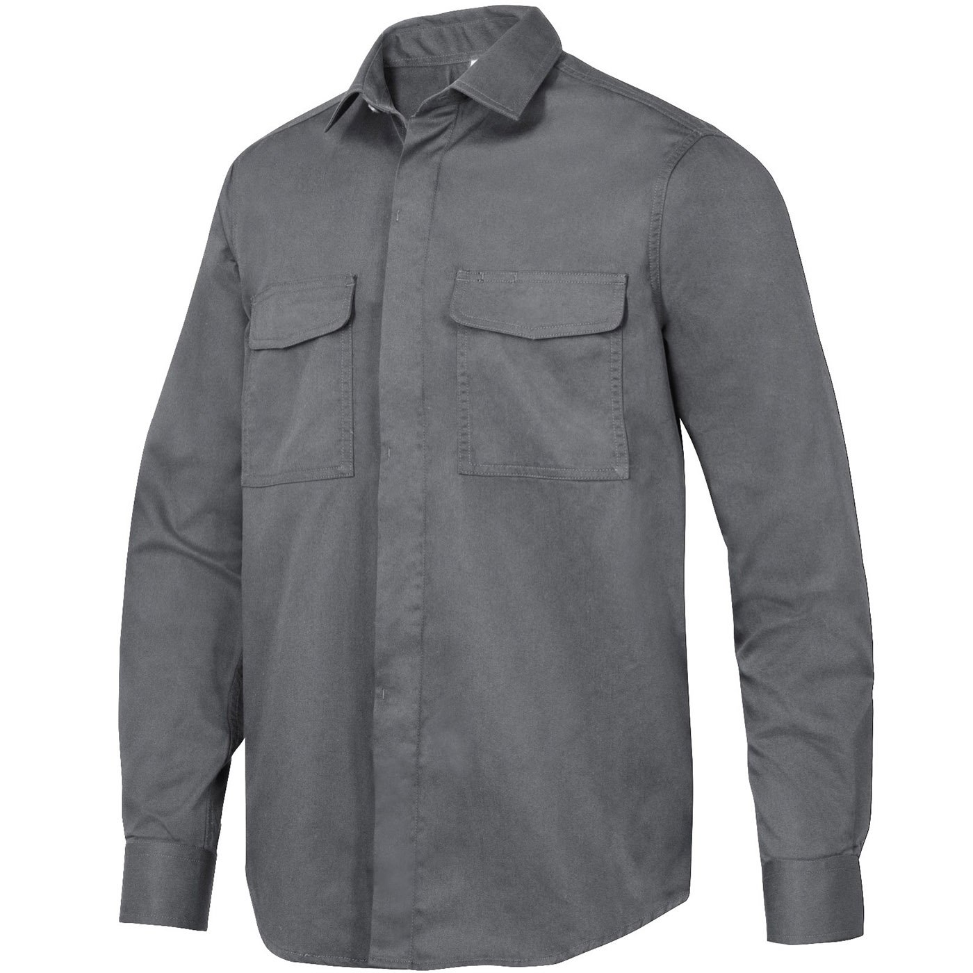Snickers 85105800009 Size 3X-Large Service Long Sleeve Shirt - Steel Grey