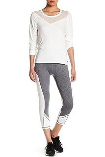 6d9c8286e6 Zobha Activewear Women's Colorblock Leigh Pieced Legging, Heather Slate,  Medium