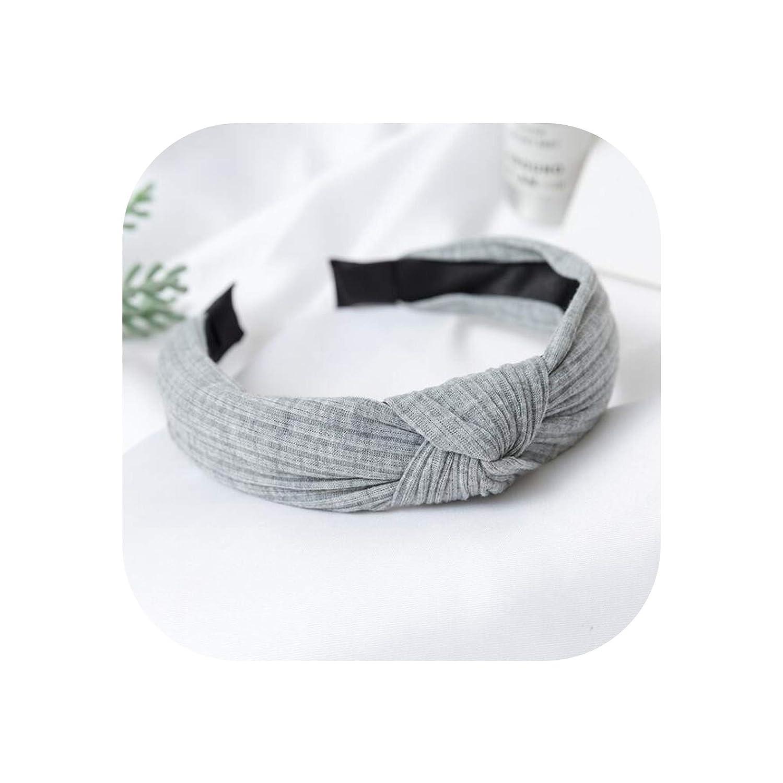 Lady Headband Twist Hairband Bow Knot Cross Tie Cloth Headwrap Hairband Refined