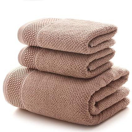 Zoomlie Juego de Toallas de Baño absorbentes de Alta Calidad, 100% Algodón Grueso,