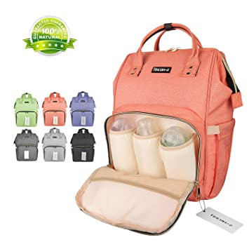 Wide Open Designer Baby Diaper Backpack By Tincon-z, Multi-Function Waterproof Tote