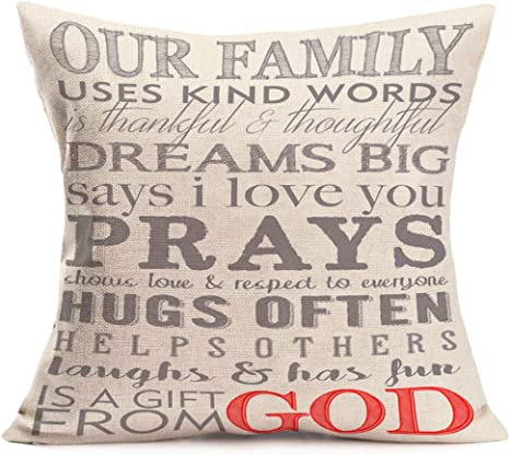 Amazon Com Fukeen Inspirational Quotes Throw Pillow Covers Warm Cotton Linen Pillow Cases Home Decor Motivational Signs Square Standard 18x18 Inch Cushion Cover For Couch Chair Dream Big Home Kitchen