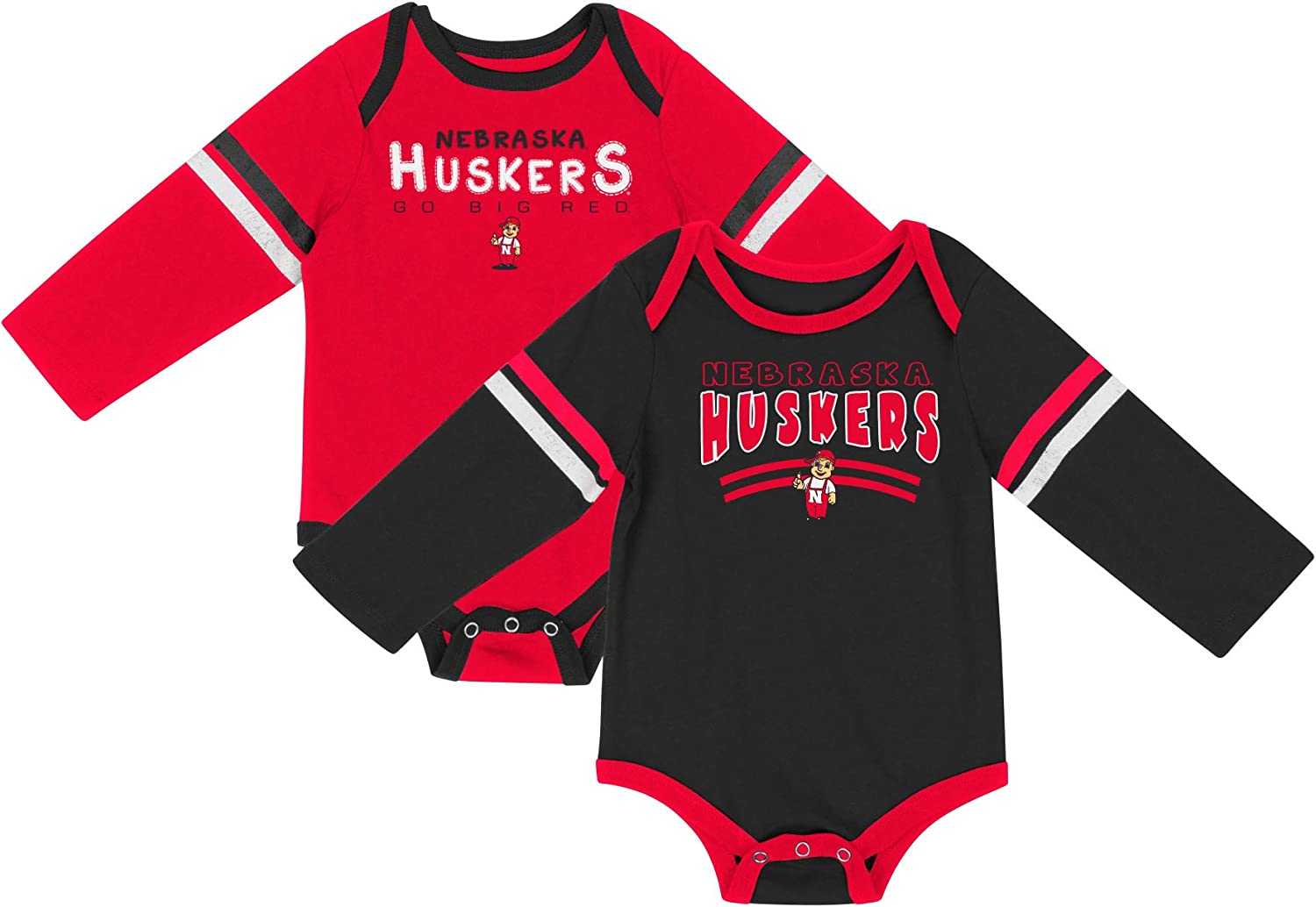 Colosseum NCAA Long Sleeve Baby Bodysuit 2-Pack-Newborn and Infant Sizes