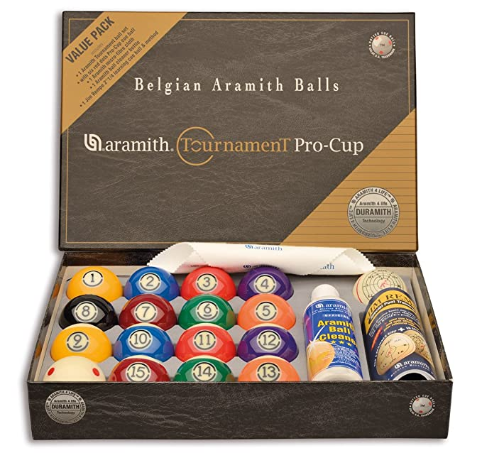 Pool Billard-Kugelsatz 57,2 Aramith Tournament Pro Cup Value Pack