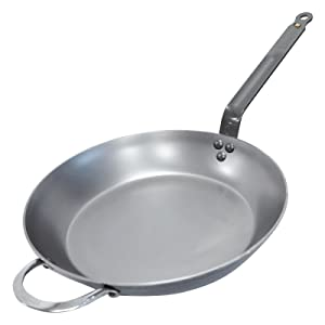 De Buyer MINERAL B Round Carbon Steel Fry Pan 12.5-Inch - 5610.32