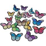 6X Stickerei Schmetterling Nähen Eisen Auf Patch Abzeichen Bestickte Applique !