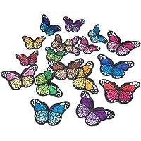 Blue Vessel 10 Stk Stickerei Bunte Schmetterling Nähen Patch Abzeichen Tasche Hut von Jeans Kleid Applique Handwerk Cheongsam
