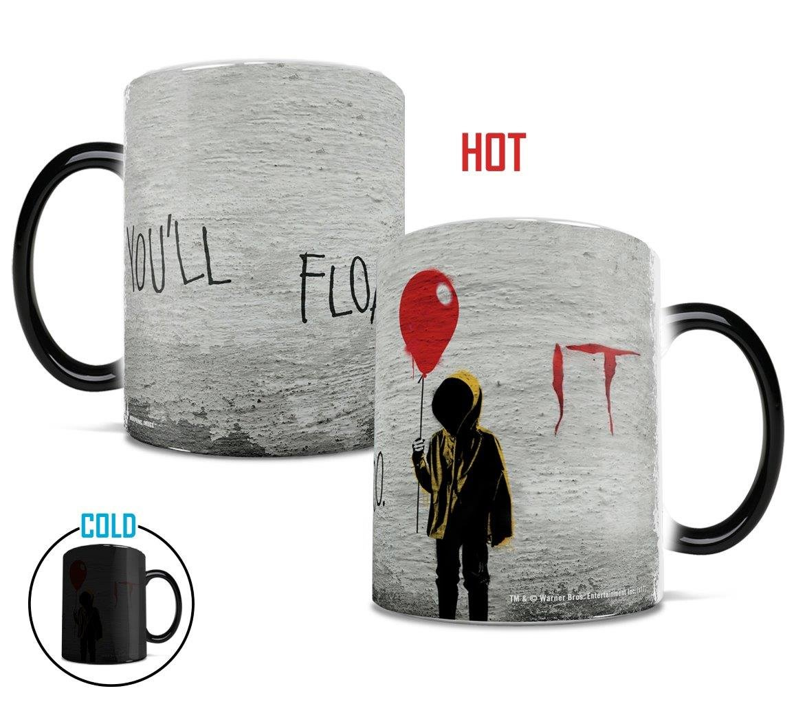 Morphing Mugs IT The Movie You'll Float Too Heat Reveal Ceramic Coffee Mug - 11 Ounces