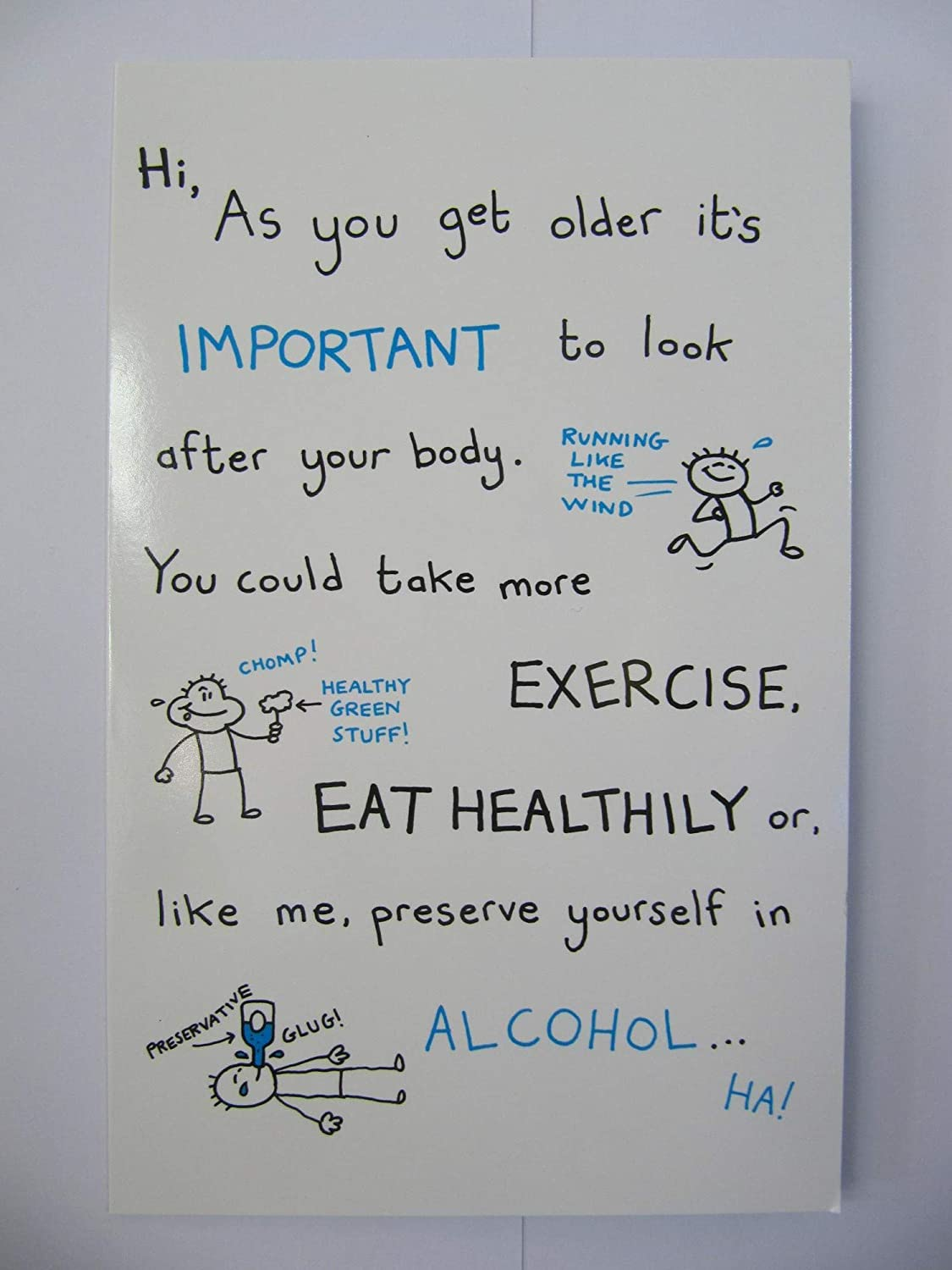 FANTASTIC FUNNY IMPORTANT TO LOOK AFTER YOURSELF BIRTHDAY GREETING CARD