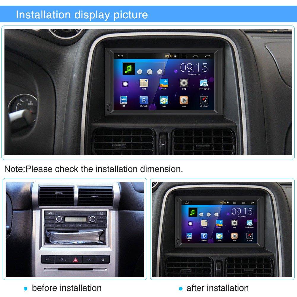 Qiilu 7inch HD Touch Screen Bluetooth Auto MP5 Spieler FM Radio GPS AUX Fernsteuerungsrearview Kamera