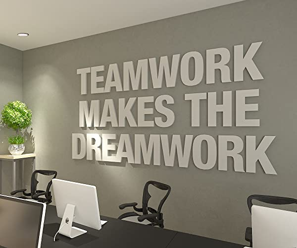 Amazon Com Homeartdecor Teamwork Makes The Dreamwork