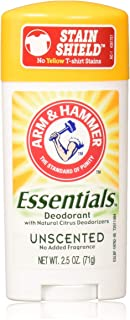 product image for Arm & Hammer Essentials Natural Solid Deodorant, Unscented, 2.5 Ounce (Pack of 5)