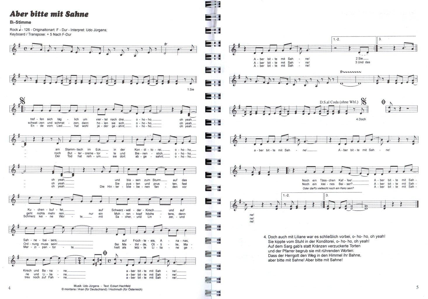100 Hits para BB y EB Instrumentos - Mejores Evergreens, Schlager, oldies - zweistimmig Sing ligero y spielbar fijado para saxofón, Trompeta, ...