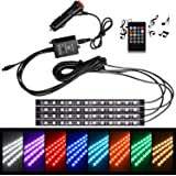 Win Power Car LED Strip Lights Waterproof 12V RGB 5050SMD 48 LEDs Atmosphere Light Car Decorative Interior Lights with Wireless Remote Control