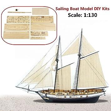 SAFETYON 1:50 Holzschiff Modelle DIY Schiffsmodell kit Boot Schiffe ...