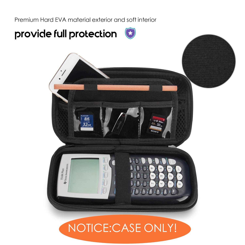 Funda para Calculadora Casio CG50 Ti-84/83/85/89/82 Plus/C CE Texas Instruments, ProCase Estuche Goma EVA Rígida de Viaje, Caja Portátil Protector ...