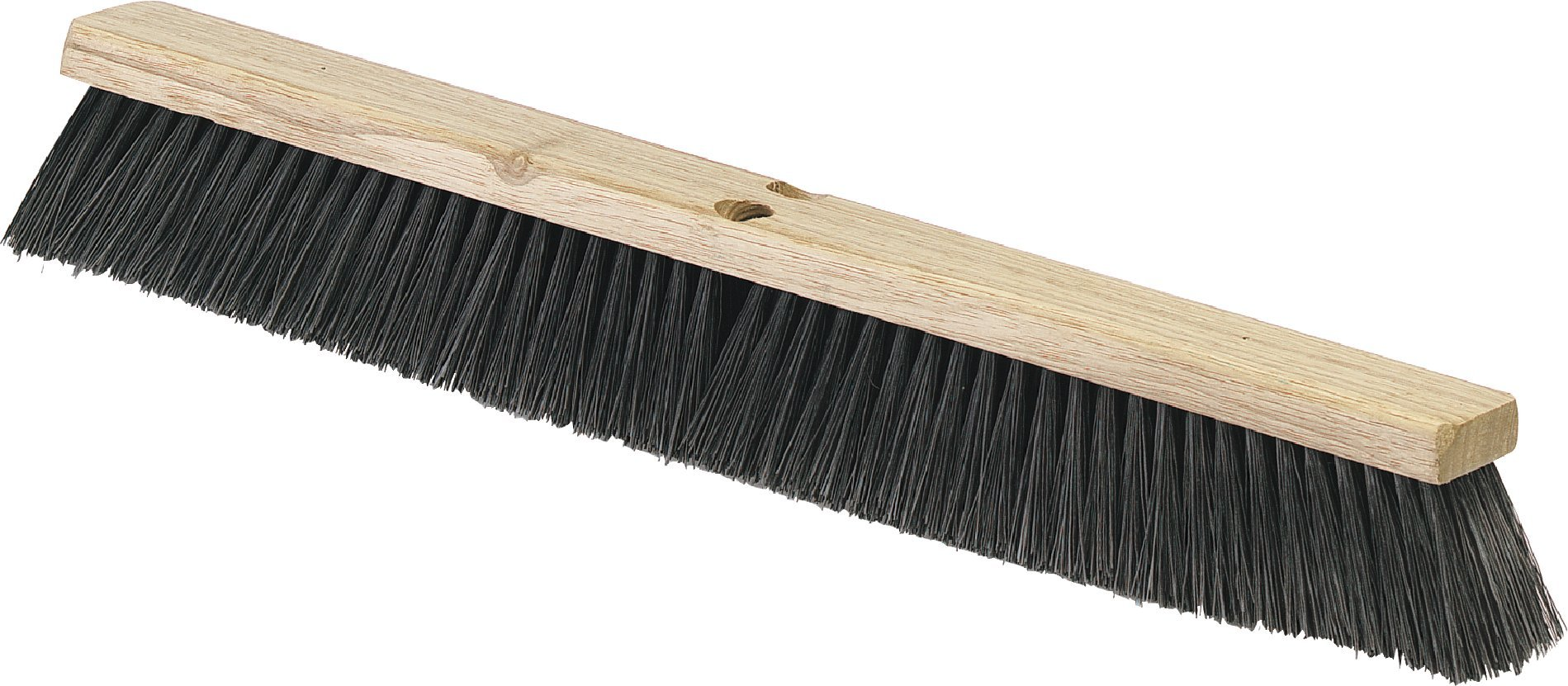Carlisle 4507303 Flo-Pac Fine/Medium Floor Sweep, Polypropylene Bristles, 24'' Length, 3'' Bristle Trim, Black (Case of 12)
