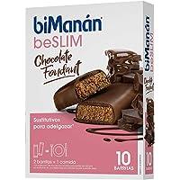 biManán - beSLIM - Sustitutivos para Adelgazar - Barritas Chocolate Fondant - 10uds 310 gr