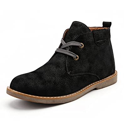 gracosy Desert Boot for Men, Winter Chukka Boot Lace Up Ankle Boots Fashion Casual Shoes
