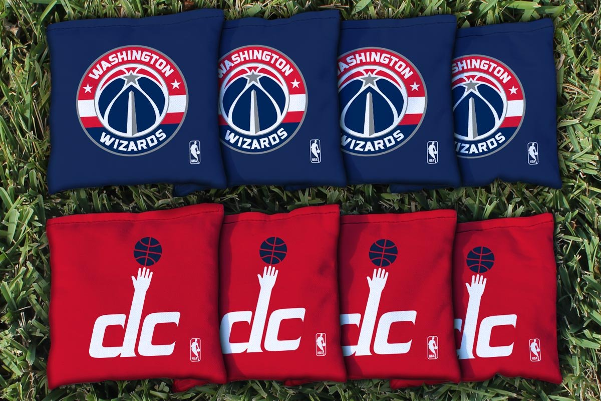 NBA Replacement All Weather Cornhole Bag Set NBA Team: Washington DC Wizards